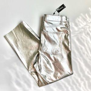 NWT Super High Waist Vegan Leather Straight Pant